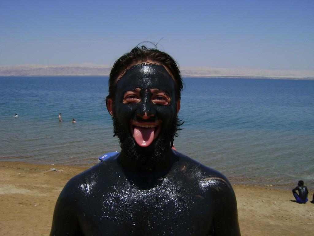 Mochileiro na lama