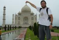 Mochileiro na Índia! E no Taj Mahal!