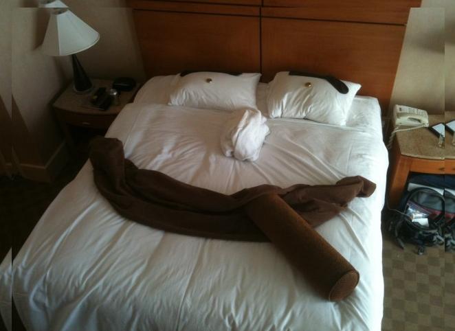 Cara na cama