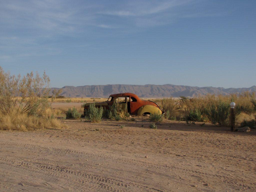 Um dos carros abandonados que vimos em Salitaire, Namíbia