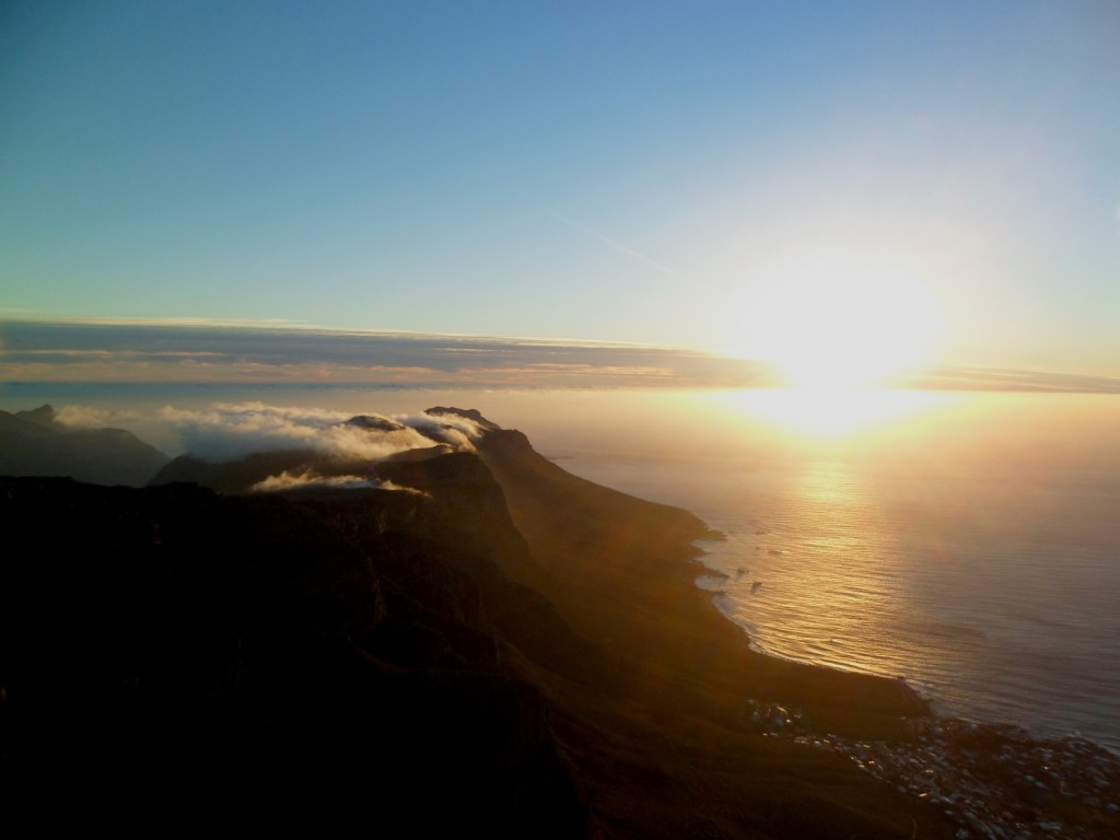Por do sol na Table Mountain