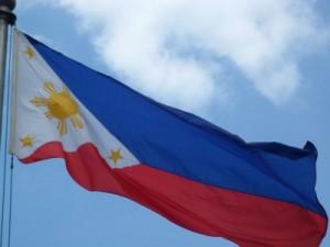 A bandeira das Filipinas