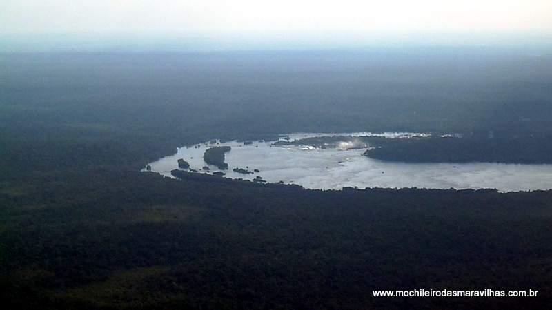 Visão aérea das Cataratas do iguaçu