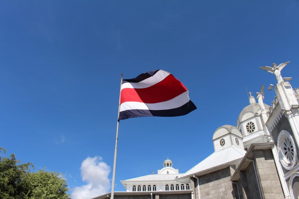 A bandeira da Costa Rica