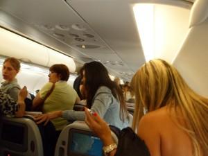 A corrida pra sair do avião...