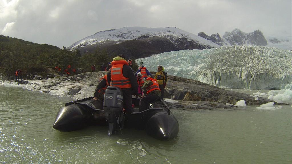 Desembarque no Glaciar Pia
