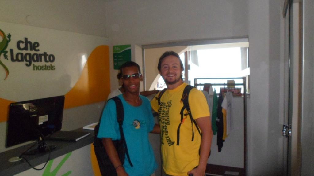 Eu e Cidilan no Hostel Che Lagarto