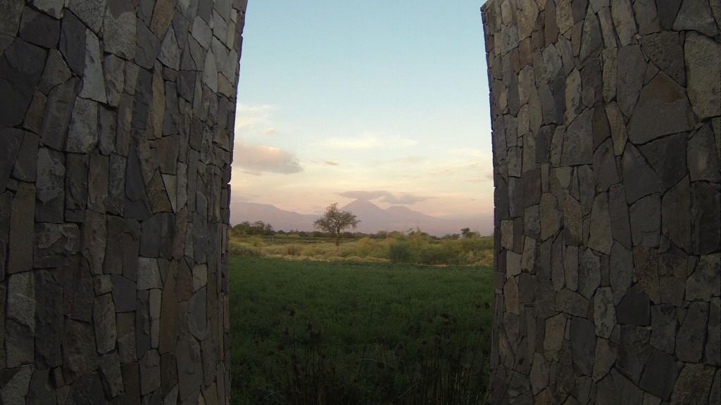 Tierra tem vista para o Licancabur