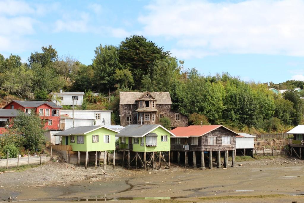 Casas típicas da Ilha Mechuque.