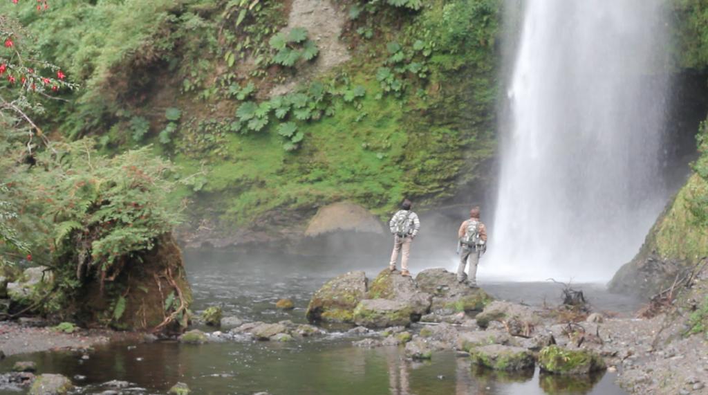 A cachoeira Tecoihue é incrível!
