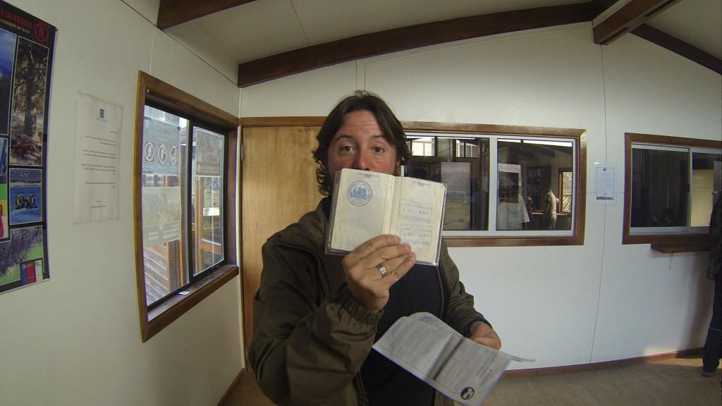 Carimbo recebido na entrada de Torres del Paine