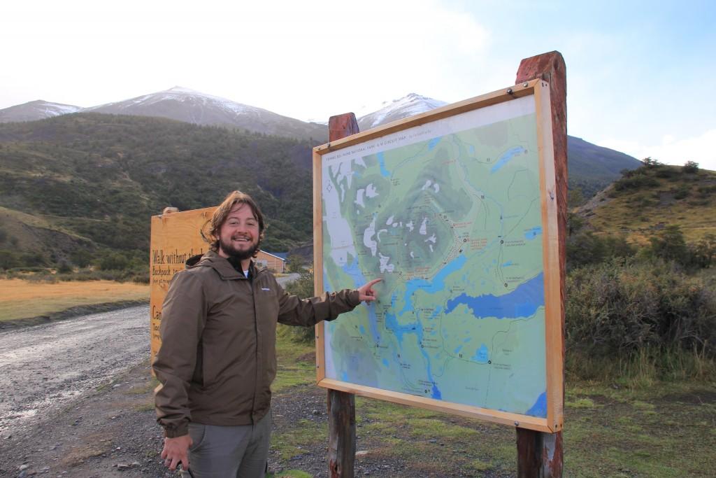 O mapa do Parque Torres del Paine - Refúgio Torres