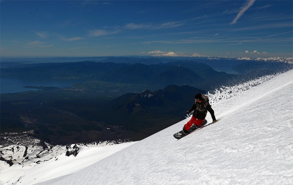 Snowboard em Pucón / Foto: Patricio Garrido