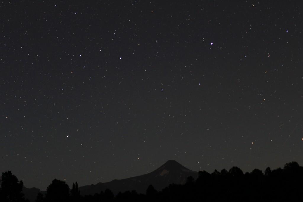 O céu estrelado de Pucón