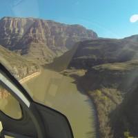 De helicóptero sobre o Grand Canyon!