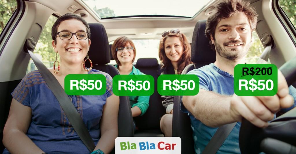 No BlaBlaCar todo mundo divide os custos da viagem!
