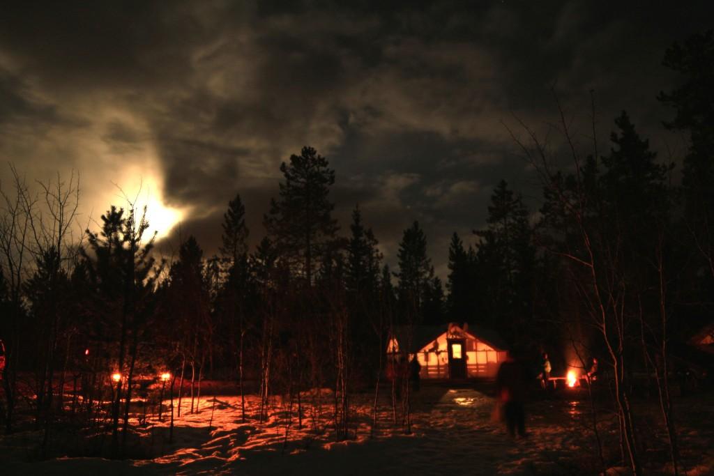 A nossa cabana, que nos abrigava enquanto esperávamos a Aurora Boreal