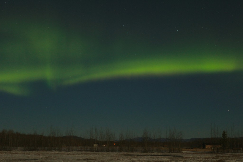A Aurora Boreal em Whitehorse