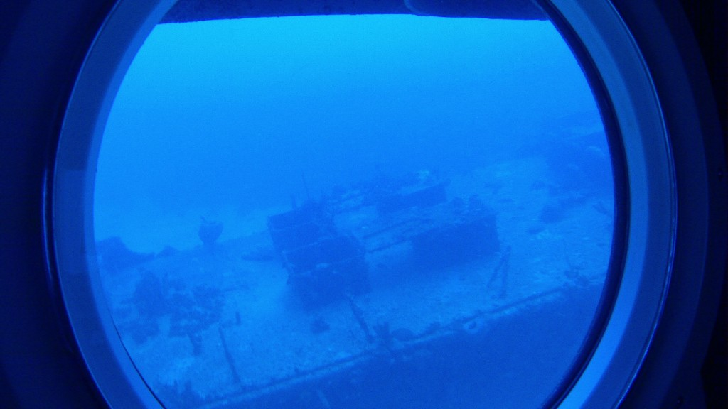 A nossa visão da janelinha do submarino