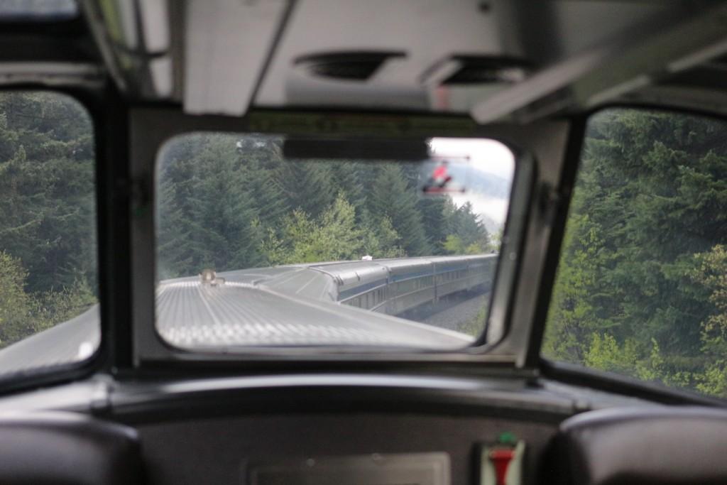 De trem pelas Montanhas Rochosas