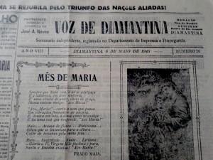 Capa do Diário de Diamantina de 1945