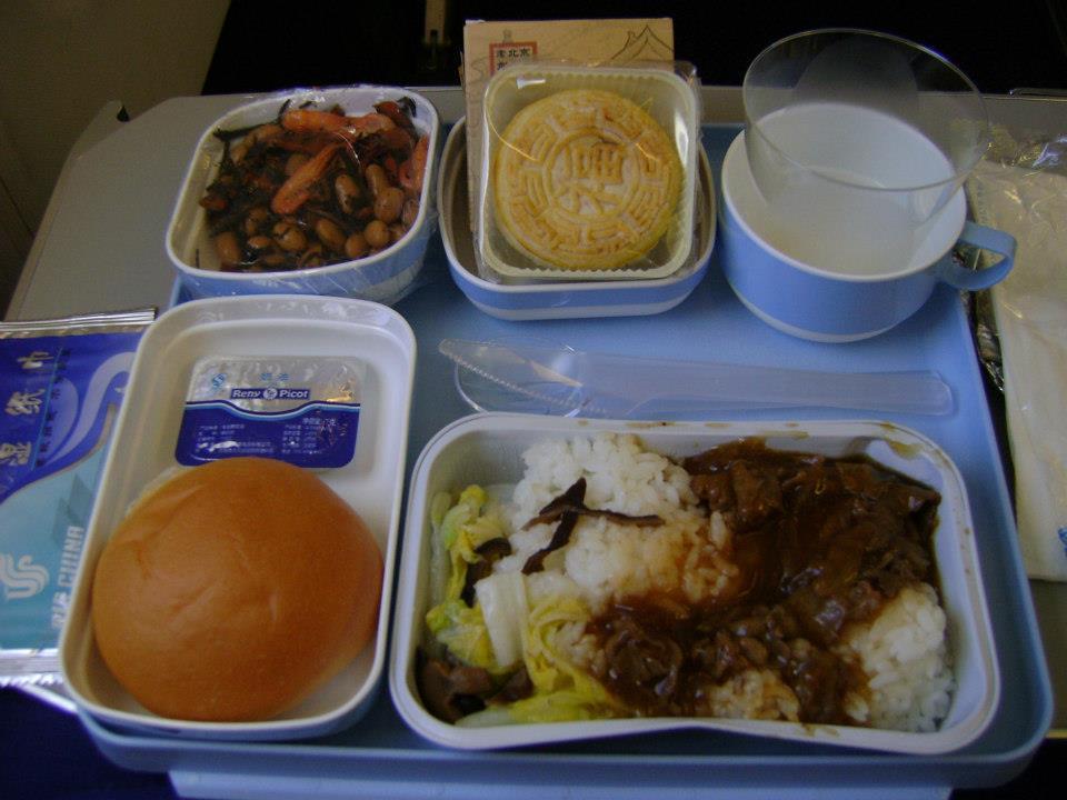 Almoço do voo Beijing / Tóquio pela Air China