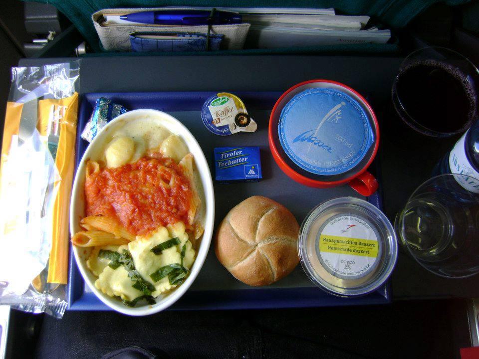 Almoço da Austrian Airlines - Moscou / Viena