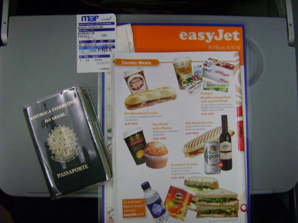 Nada de comida no voo Marrakesh / Paris da EasyJet