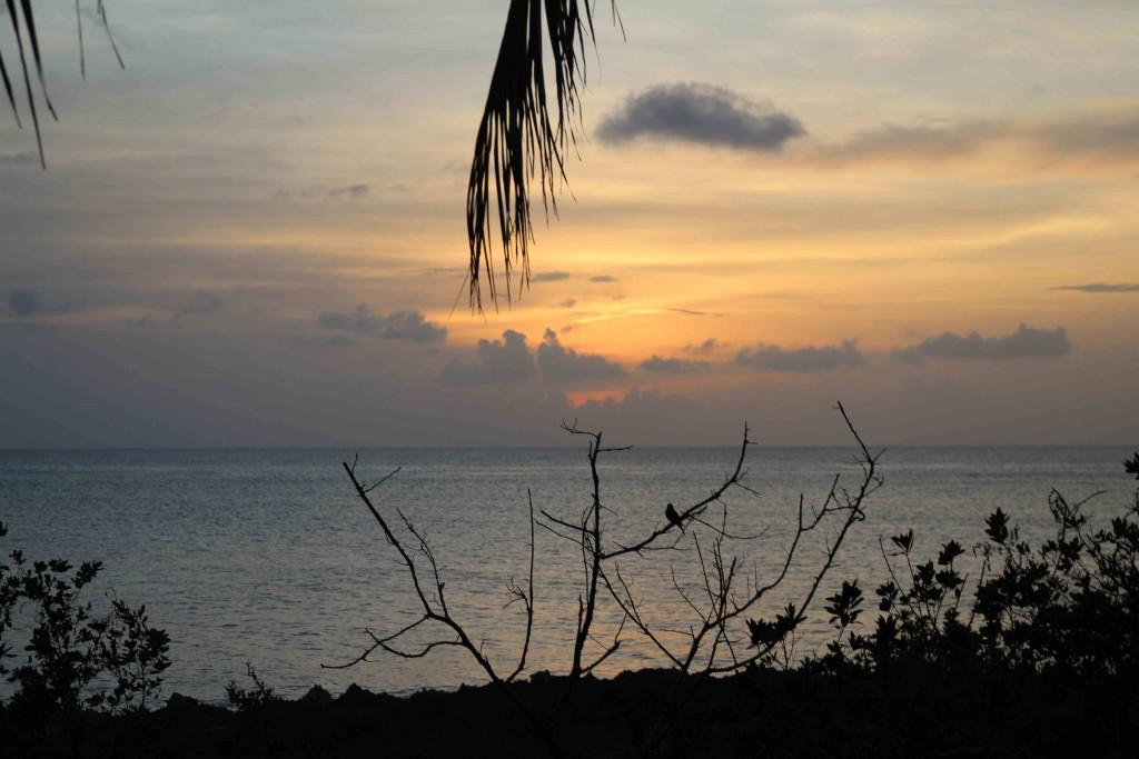 Por do sol em San Andrés