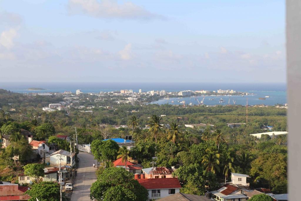 San Andrés vista do alto do campanário da Igreja Batista