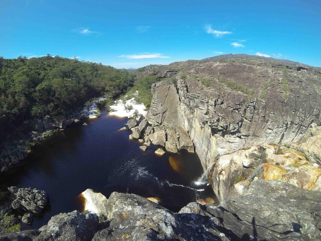 Cachoeira do Crioulo vista de cima