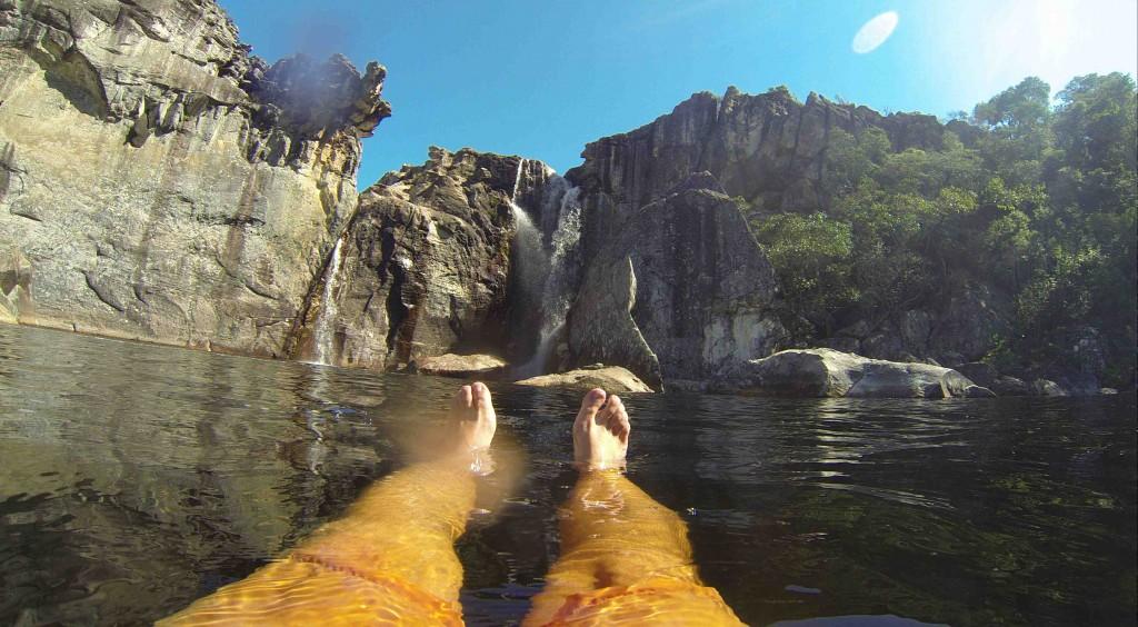 Cachoeira do Crioulo vista (quase) de dentro