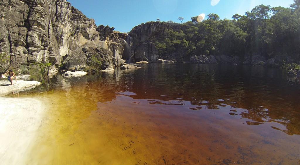 Cachoeira do Crioulo vista de baixo