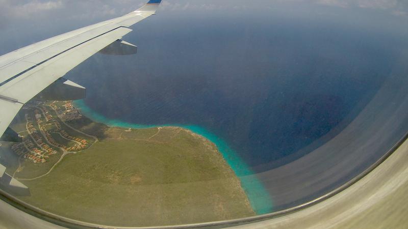 Chegando em Curaçao com a COPA Airlines...