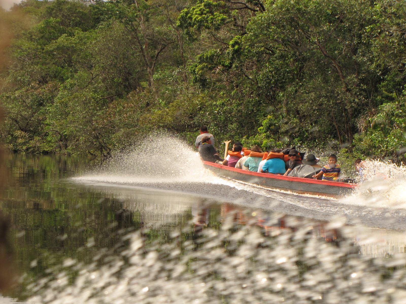 Voadeira corta o rio Carrao...